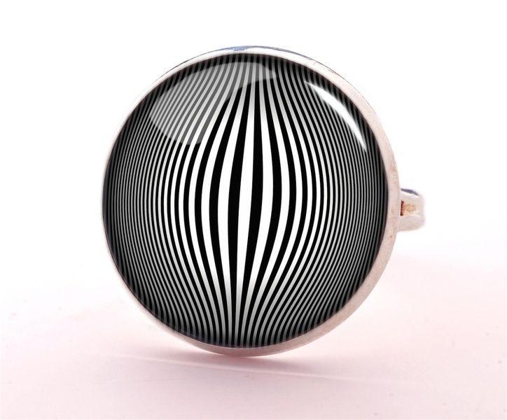 Op-art Ring, Jewellery, 0566RS from EgginEgg by DaWanda.com