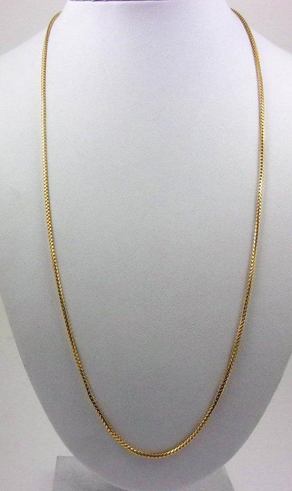 Solid 14k Yellow Gold 22 Fancy Franco Box Link Chain Necklace 1 5mm 7 7 Grams Gold Chain Design Fancy Jewellery Mens Gold Bracelets