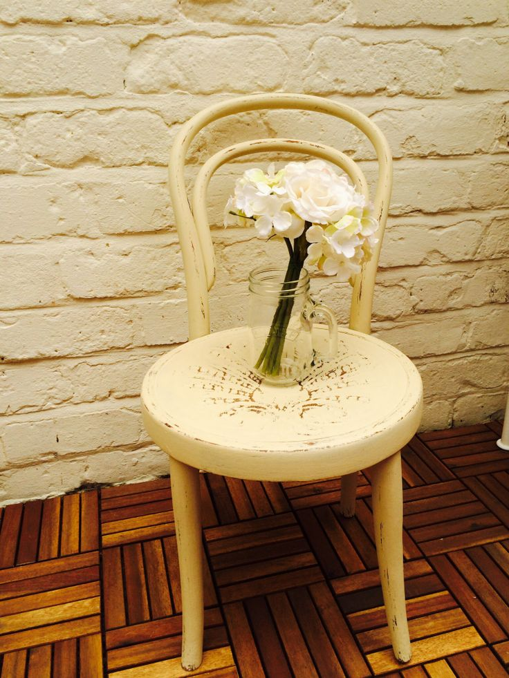 My 1st chalk paint project, all waxed and distressed using Autentico Paris White, many thanks to Everlong Forever-Chic