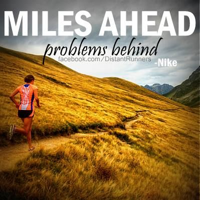 Miles ahead and problems behind--a good #run can clear your mind, which is all the more reason to do it today. #motivation