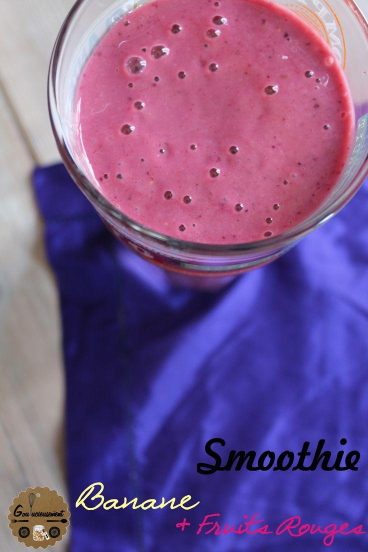 Smoothie Banane, Fruits Rouges & Yaourt Grec {Goulucieusement}