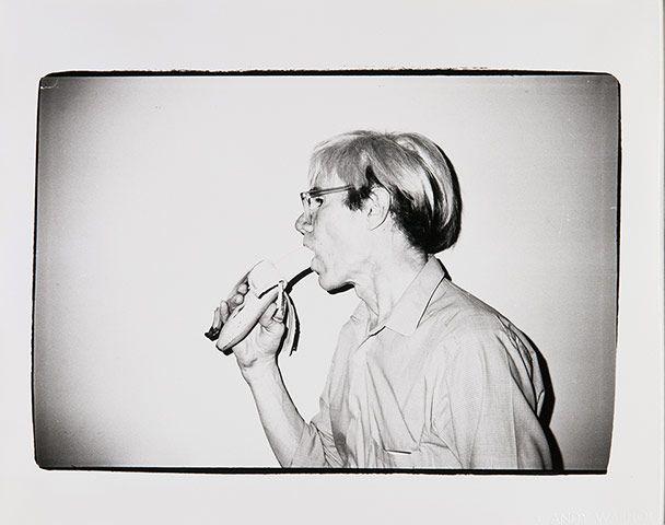 Warhol Photography: Andy Warhol with a Banana, 1982