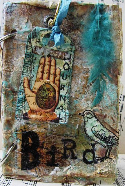 bird journal front cover by nayski (Renee Stien), via Flickr