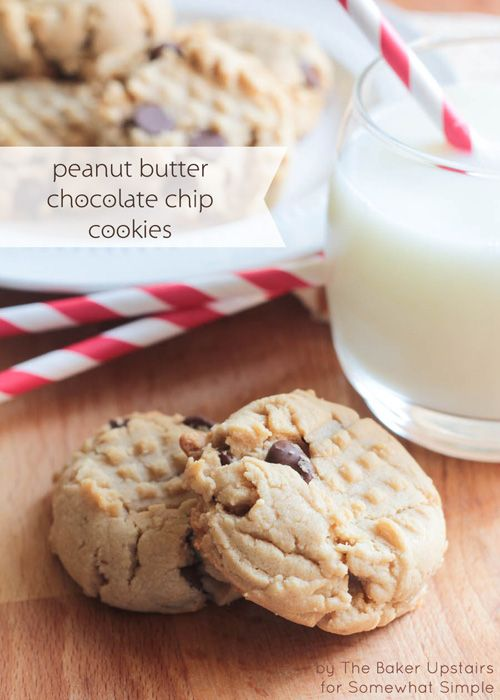 Chip cookies, Chocolate chip cookies and Peanut butter on Pinterest