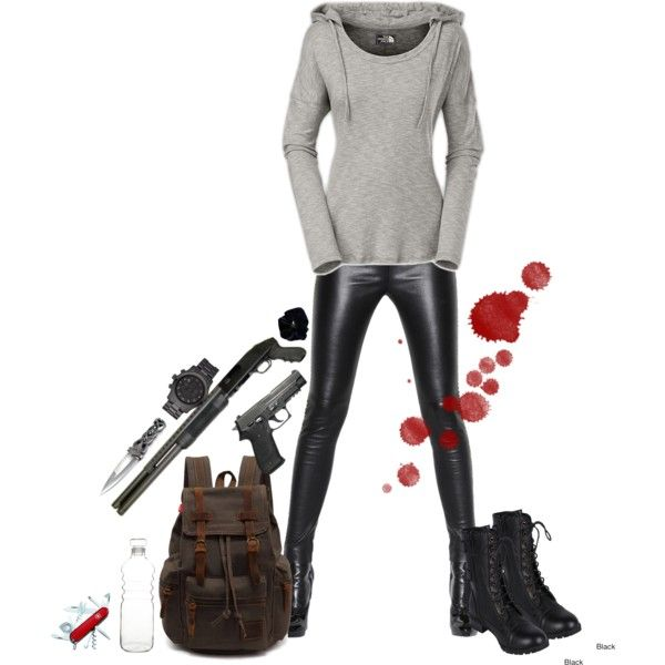 U0026quot;Badass Zombie Apocalypse Outfitu0026quot; By Eternallyonthecouch On Polyvore | Characters Closet ...