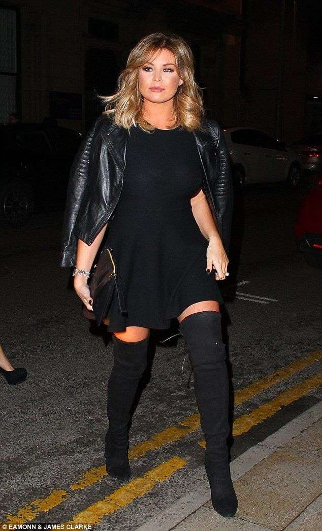 Out in style: Jess Wright looked sensational as she stepped out for an evening out in Manc...