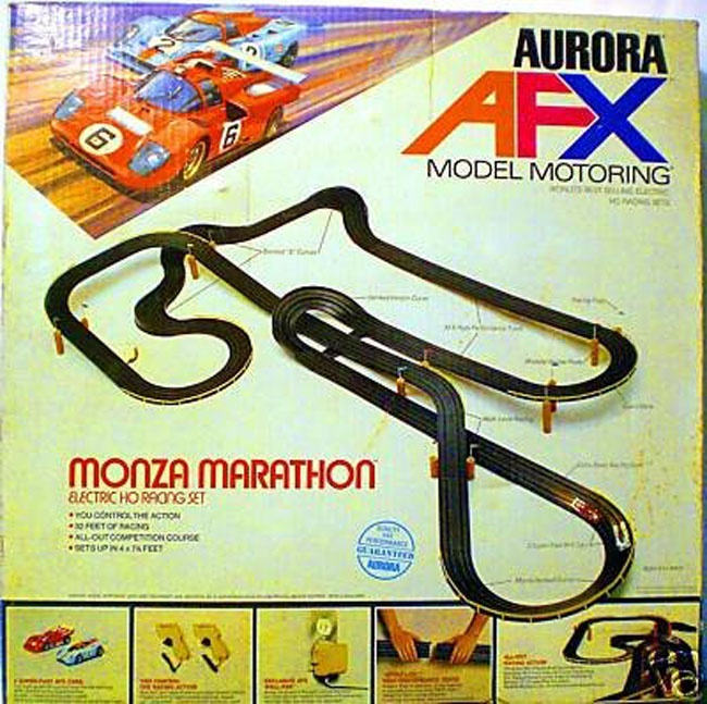 Slot Car Racing Sets were so fun! Remember running home from school just to play this everyday. My Hot Wheels were used as 'pawns' in the great Tower of crumbling crashing cars!! HAHAHA! Can you tell I loved my childhood?..lol