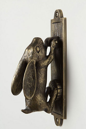Anthropologie Swinging Hare Door Knocker, $40, available at Anthropologie