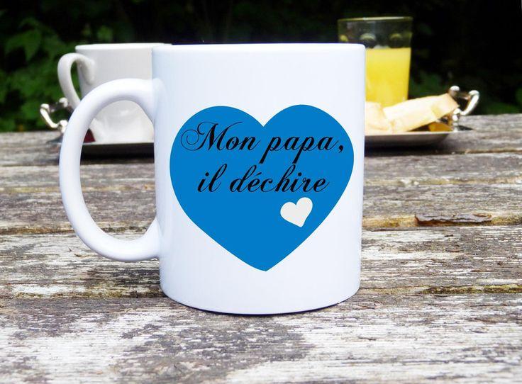 #Mug original et personnalisable #Papa, cadeau de Sublimage by leausycreation sur DaWanda.com