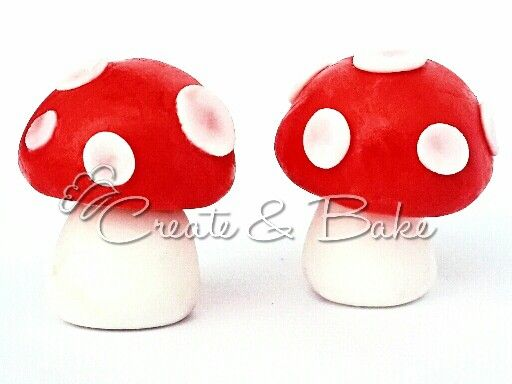 Cake creating in Cape Town, South Africa. www.createandbake.co.za  fondant toad stool toppers