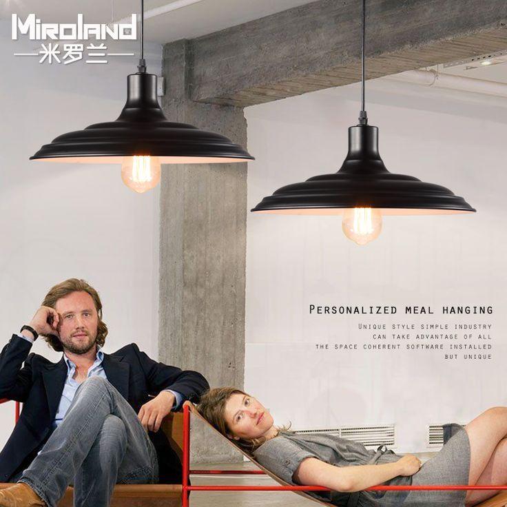 Loft American country Vintage industrial wind bar restaurant Pendant Lights minimalist Scandinavian Iron lighting