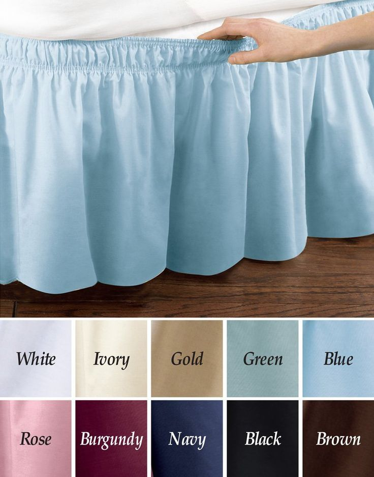 Amazon.com - Elastic Bed Wrap Ruffle Bed Skirt Black Queen/King - in black or white $14.99 + $4.00 shipping