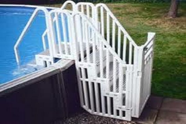 Above Ground Swimming Pool Ideas | ... Above Ground Pool Stairs?: Beautiful Above Ground Pool Stairs