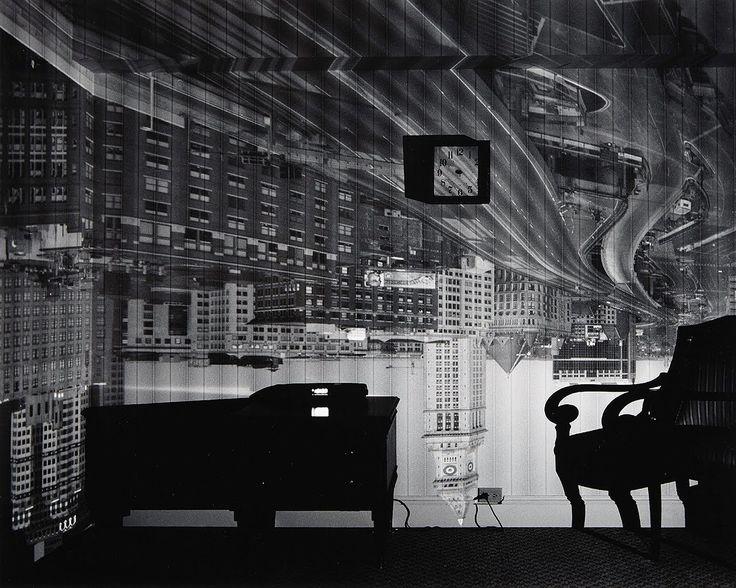 Abelardo Morell - Camera obscura image of Boston's Old Custom House in hotel room - Boston, Massachusetts, USA, 1999 or 2000.