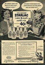 1952 Borden's Starlac Milk Elsie the Cow Print Ad