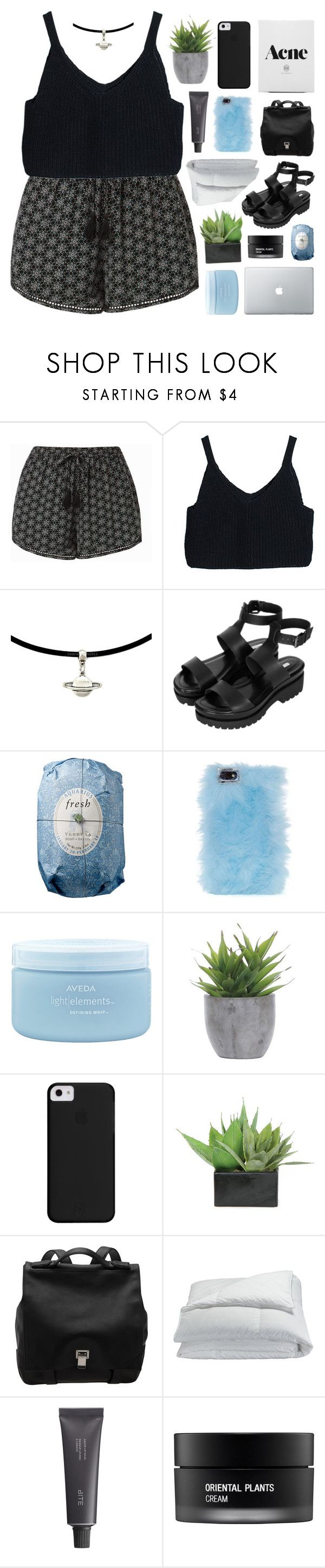 """""""AMSTERDAM / TESTING TAGS""""  ❤ liked on Polyvore featuring Topshop, Fresh, Skinnydip, Aveda, Lux-Art Silks, Proenza Schouler, Frette, Bite and Koh Gen Do"""