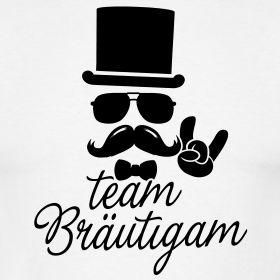 Team Bräutigam - Gentleman | Poltershirts.com - T-Shirts für den Polterabend!