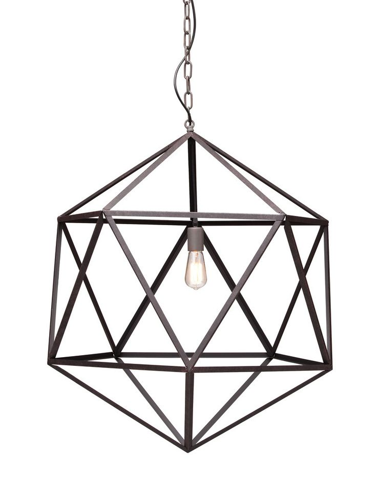 Amethyst Ceiling Lamp Large Rust  - Zuo Modern - $670.00 - domino.com