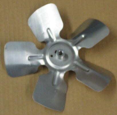 "A65833 Metal Fan Blade 8"""" Diameter 5 Blades 5/16"""" Bore Hub CCW 27 Degree Prop"