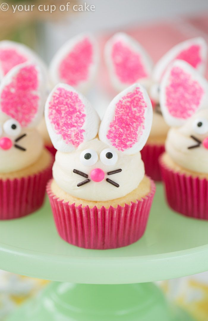 Easter bunny cupcakes pinterest the for Cute cupcake decorating ideas for easter