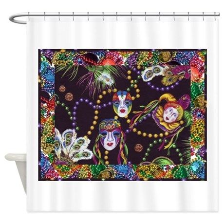 Best Seller Mardi Gras Shower Curtain By Royal Savage Fabric