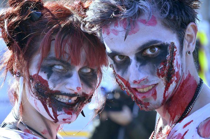 完璧メークで街を徘徊、各地で「ゾンビウォーク」 #ゾンビ #Zombie