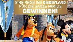 Gewinne eine Reise mit der ganzen Familien ins Disneyland! http://www.alle-schweizer-wettbewerbe.ch/familien-reise-disneyland