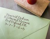 Custom Return Address Stamp // BRIGHT // hand calligraphy