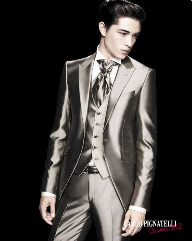 silver suit by carlo pignatelli, ceremonia 2012 catalog / photo by stefano moro
