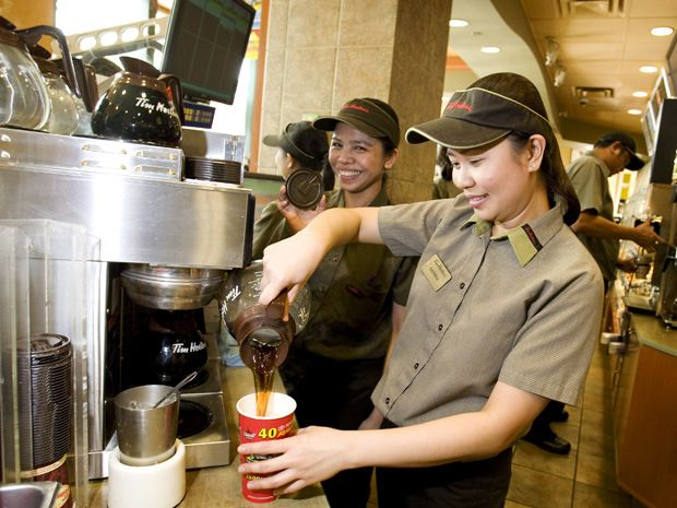 Each cup of #coffee comes from  #TimHortons is made in time after customers order it. It's #AwaysFresh. #MKM915
