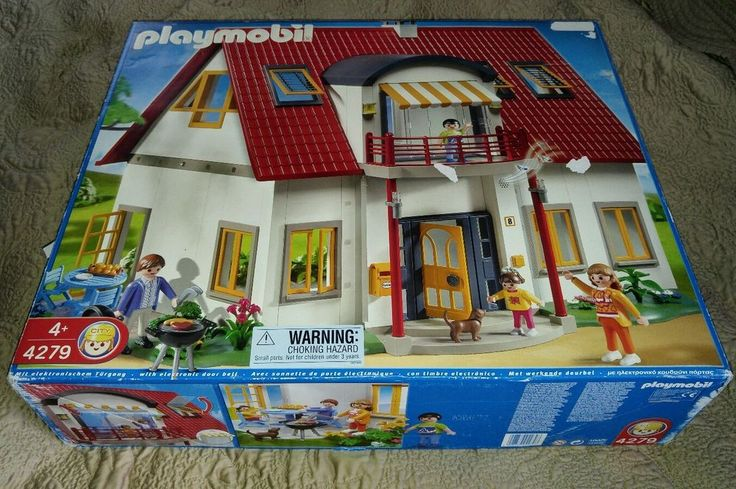 Playmobil Suburban House New #4279 City Life Electronic door bell Dog Figures  #PLAYMOBIL