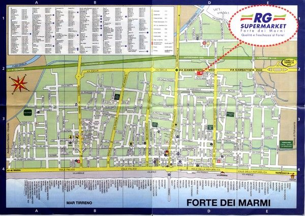 Forte dei Marmi-map Map