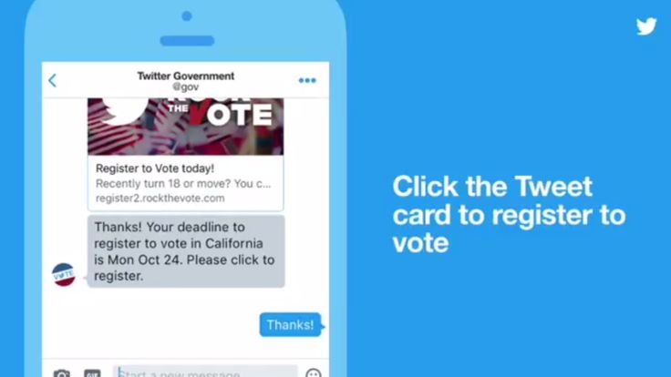 Twitter will now help you register to vote, answer voter questions via direct message | TechCrunch