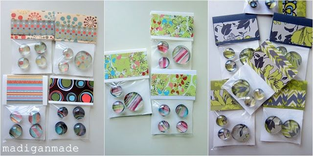 Make a quick gift: Glass gem magnets ~ Madigan Made