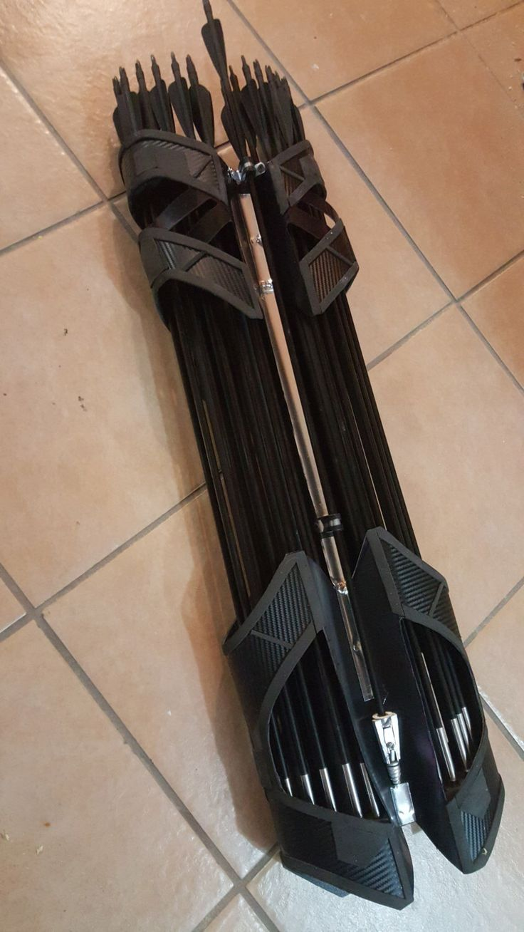Hawkeye QUIVER - Age of Ultron inspired design with 19 carbon fiber arrows by Props2Powerloaders on Etsy https://www.etsy.com/listing/272251152/hawkeye-quiver-age-of-ultron-inspired