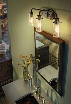 Kichleru0027s Braelyn collection bathroom fixtures add a touch of elegance to your home. It is. Bathroom Lights Over MirrorBathroom ... & Best 25+ Bathroom lights over mirror ideas on Pinterest | Bathroom ... azcodes.com