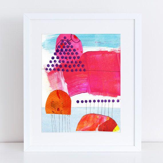 Giorno 15  arte della parete A4 stampa giclée  Abstract di margin