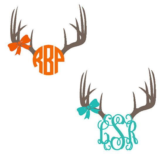Cute deer antler monogram. Put it on your rifle, car, hunting boots…you get the idea! $7
