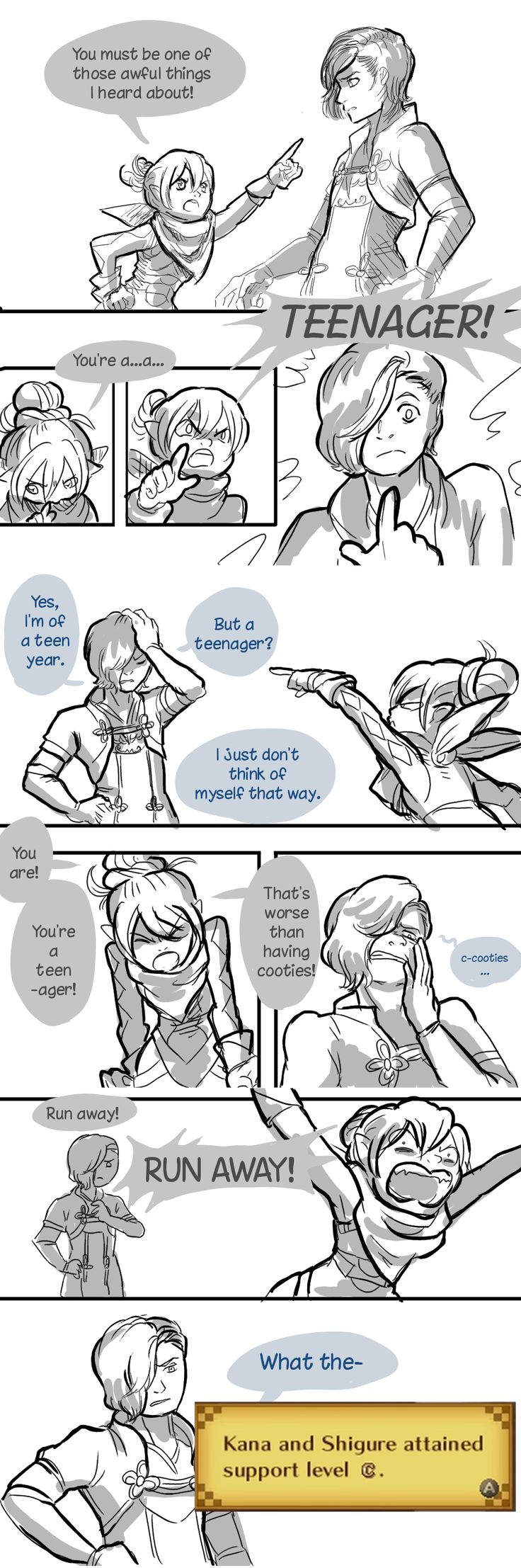 Fire Emblem Fates - Kana hates teenagers [Full comic]