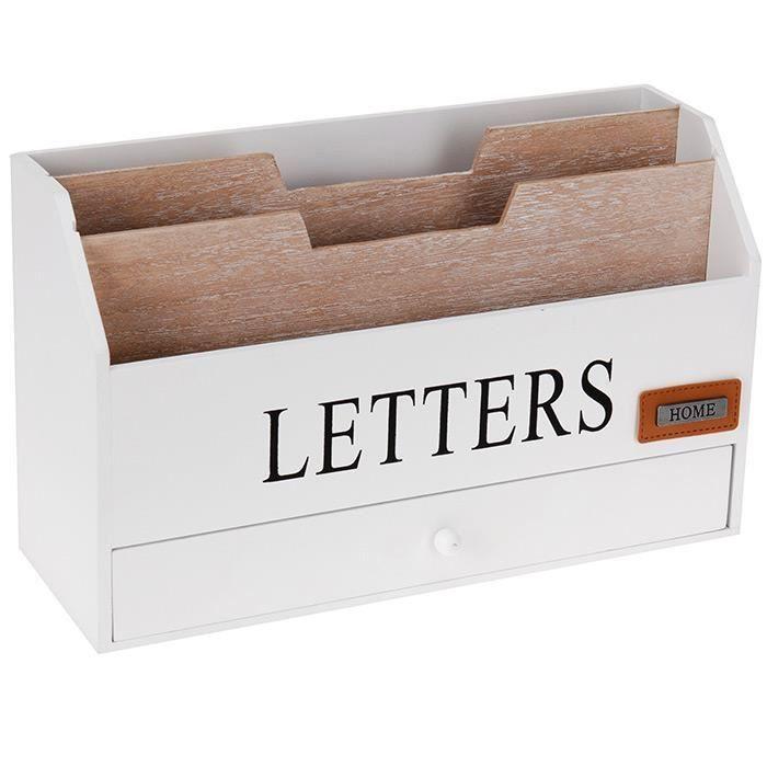 Organiseur Range Courrier Bureau Rangement Porte Lettres Avec Tiroir En Bois Rangement Tiroir Bois Rangement Tiroir