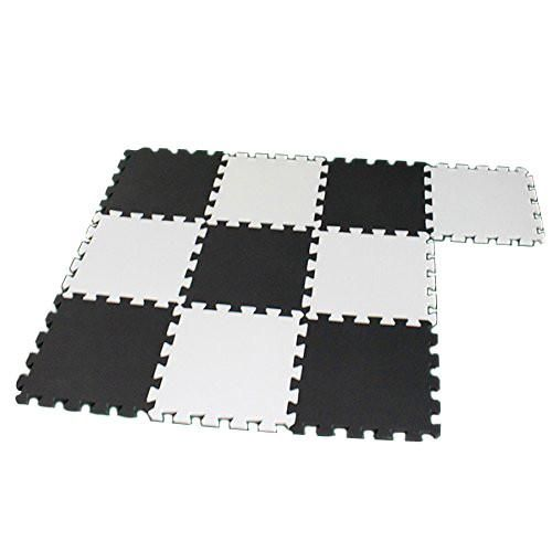 Rubber Floor Mat Comfort Cooking Work Area EVA Foam Play Puzzle Mat/10pcs/lot Interlocking 30cmX30cm Easy to clean and assemble  Waterproof, nonslip;non-toxic,eco-friendly  for workshops, kids, homes or exercise rooms; Protect your floors and provide yourself or your kids a cushion while working out or playing  Color:black&white  Easy to clean and assemble  Waterproof, nonslip;non-toxic,eco-friendly  for workshops, kids, homes or exercise rooms; Protect your floors and provide yourself or…