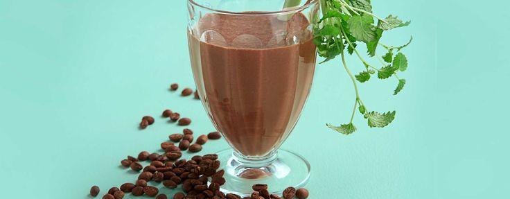Smoothie med kakao, banan og kaffe