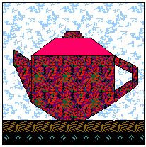 Teapots Cups Coffee Mugs Free Quilt Blocks To Paper