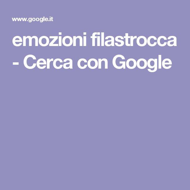 emozioni filastrocca - Cerca con Google