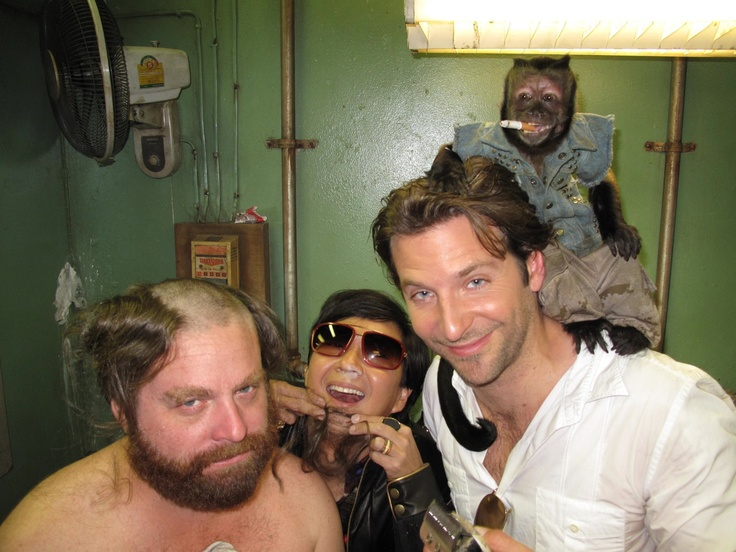 Part of The Hangover gang (Check out the details in this photo-- like Mr. Chow's nose! LOL!)