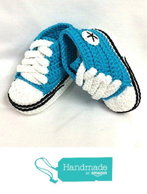 Patucos para Bebé Recién Nacido, tipo Converse, Azul Turquesa, 0-3 meses. Hecho a Mano. Crochet de Borbolettas https://www.amazon.es/dp/B01M5EPAFY/ref=hnd_sw_r_pi_dp_9aTjyb043ZS46 #handmadeatamazon