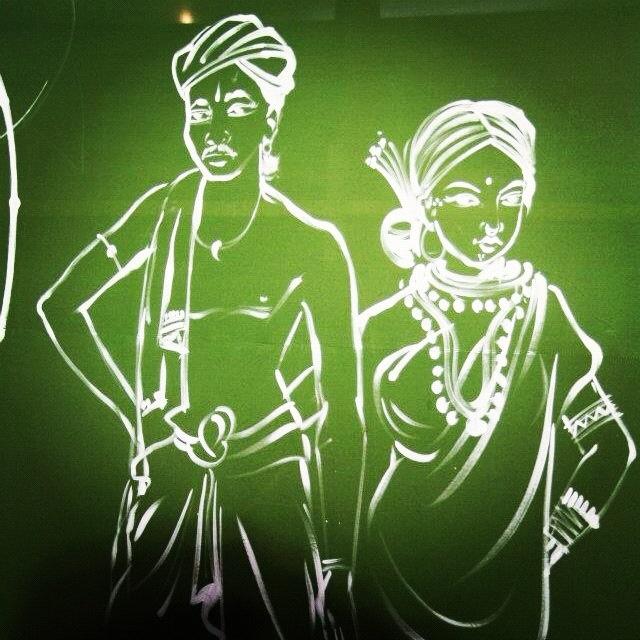 An excellent painting at Adivasi Mela. Makes you wish you were a painter :-) #bhubaneswar #orissa #odisha