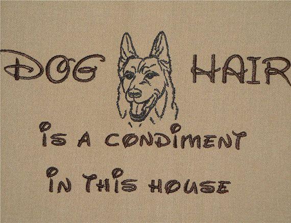 Tea Towel - Dog Hair is a Condiment - German Shepherd by rendachs, $12.00