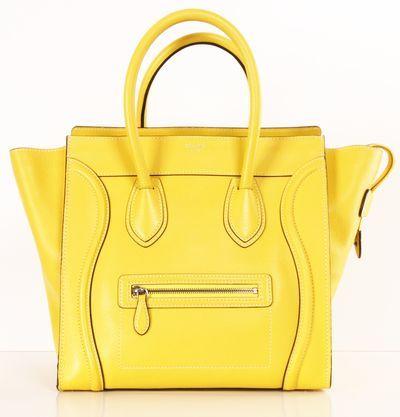 Love this bright lemon yellow purse.