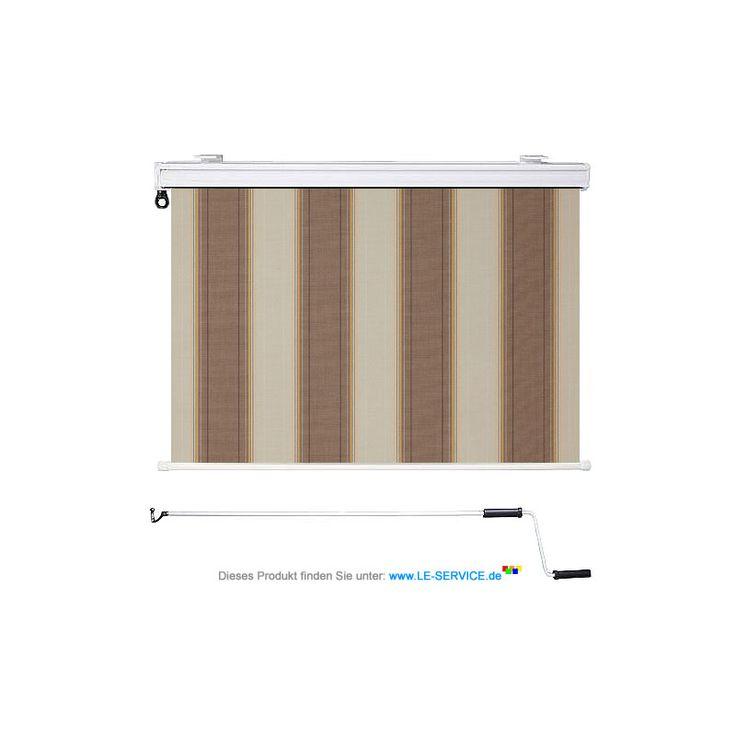 senkrechtmarkise in braun gestreift tuch boston 8629 senkrechtmarkisen pinterest. Black Bedroom Furniture Sets. Home Design Ideas
